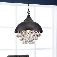ivana 5 light antique black luxury crystal chandelier