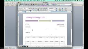 Create An Invoice In Microsoft Word Creating Invoices Using Microsoft Word Templates YouTube 1