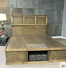 Platform Bed King Storage Lern Diy King Platform Storage Bed Plans