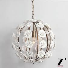 ceramics white rose flower iron cage shpere or hemishepere vintage art deco country style pendant light lamp ceramics rose shpere with