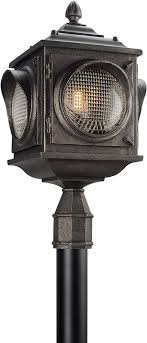 troy pl4505 main street retro solid aluminum led outdoor post light fixture loading zoom