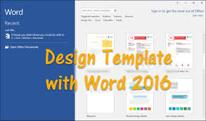 How to Design Template with Word 2016 - wikigain