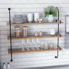 metal wall shelf fountain valley wood wall shelf wood and metal wall shelf with hooks wood