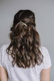 easy half up hair tutorial balayage gold hair clip my style vita