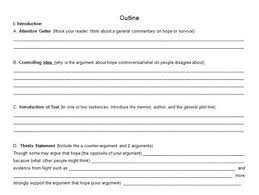 Night Argumentative Essay W Rubric Outline And Graphic Organizer