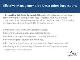58 effective management job description suggestions overarching call center responsibilities call center job descriptions