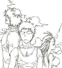 Bleach Coloring Dxjz Trio From Mangaanime Bleach Coloring Page