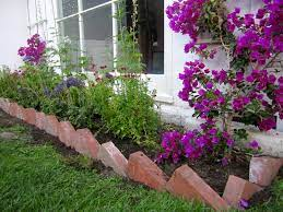 recycled brick garden edge brick