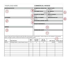 Free Word Invoice Templates Export Documents And Commercial Invoice Template Designing Something