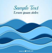 abstract waves template vector free