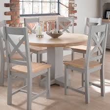 amazing impressive round grey dining table with round dining room tables for 6