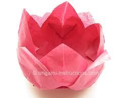 Paper Napkin Folding Flower Origami Tissue Lotus Folding Instructions Origami Napkin Lotus