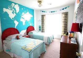 Orange Color Covered Bedding Sheets Shared Girl Bedroom Ideas ...