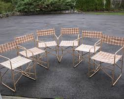 folding metal directors chairs. vintage metal folding director chair lot set of 6 animal skin canvas for pick up only directors chairs d