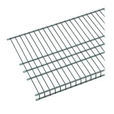 closetmaid maximum load 72 in w x 16 in d silver ventilated wire shelf