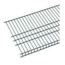 closetmaid maximum load 72 in w x 16 in d silver ventilated wire shelf