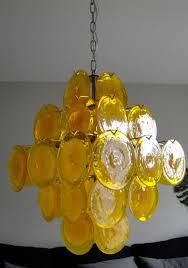 yellow murano glass chandelier at 1stdibs regarding latest glass chandelier view 20 of 20