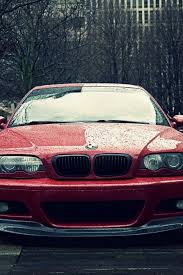 bmw m3 e46 red front view cars raining