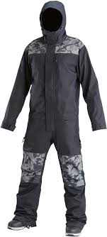 Airblaster Freedom Ski Snowboard One Piece Suit M Black Stealth Dino