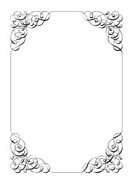 Paper Borders Templates White Chart Paper Border Decoration Ideas