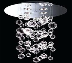 glass bubble chandelier cascading glass bubble chandelier and