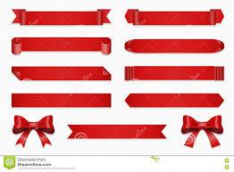 Anniversary Ribbon Anniversary Ribbon Set Vector Banner Ribbons And Bow Stock Vector