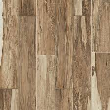 style selections brazilian pecan natural porcelain wood look floor and wall tile mon 6