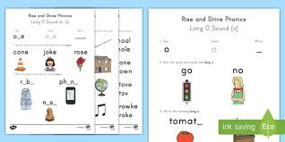 Writing long a sound with a_e is so common place that in nearly every sentence we speak, we find the job is to find words with long a sounds, circle them, and write them separately. Long O Sound Worksheets Rise And Shine Phonics Ela Twinkl