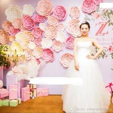 Paper Flower Photo Booth Backdrop Giant Paper Flowers Set For Showcase Wedding Backdrops Props Flores Artificiais Para Decora O Mix Sizes 8 Different Sets Option