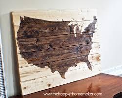 rustic wood united states us map wall art  x   via