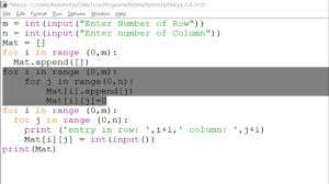 Make A List Com How To Make A 2d List Or Matrix In Python And Take A Input From User