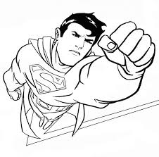 Superman Coloring Pages In Action Coloringstar