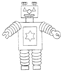 Small Picture Robot coloring page