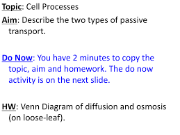 Venn Diagram For Osmosis And Diffusion 2 Types Of Passive Transport