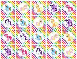 Small Picture DIY Printable My Little Pony Mane Six Rainbow por shoptinyanchor