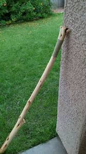 picture of how to make a leather handle for a walking stick