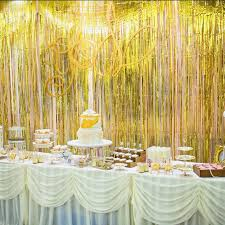gold foil fringe curtain 1 2m door curtains tinsel shining party wedding birthday marriage gathering