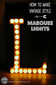 Paper Mache String Lights How To Make Marquee Lights Paper Mache Letter Copper Foil