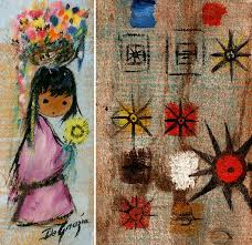 ted degrazia was known for painting on just about anything here are some