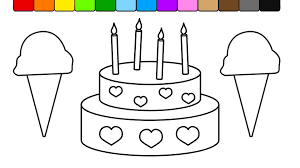 Small Picture Learn Colors for Kids and Color this Ice Cream and Cake Coloring