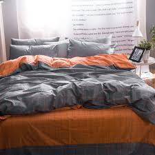 grey and orange bedding bedspreads freda stair intended for gray duvet cover decor 2