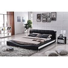 us pride furniture b8067ck bonded leather contemporary platform bed california king blackwhite contemporary bed frames r33