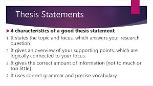 expository essay introduction thesis statement focus definition 14 thesis statements  4 characteristics