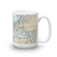Little Manatee River Chart Mug Chart Mugs