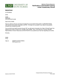 Sample Cobra Termination Letter Termination Letter Templates 26 Free Samples Examples