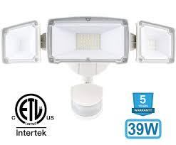 Designer Motion Sensor Outdoor Lights 39w 3 Head Led Security Lights Motion Outdoor 260w