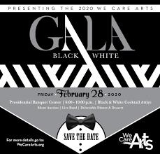 Black White Gala Spring Auction We Care Arts