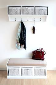 Entryway Wall Mounted Coat Rack Wall Mounted Coat Rack With Storage Furniture Natural Color 28