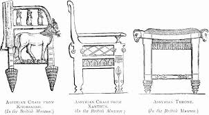 assyrian chair from khorsabad ancient greek furniture