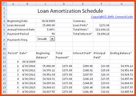 Amortization Schedule Excel Business Mentor